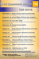 Fall 2013 Speaker Series Poster Option One by zbarama