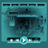 Simple Media Player Skin by kamagfx