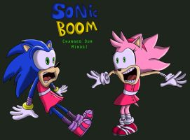 Sonic Boom: Changed Our Minds Comic Cover by SpongicX