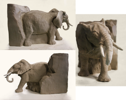 Elephant Sculpture by black-racoon