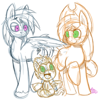 Commission - Appledash family by xNIR0x