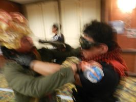 Anime Los Angeles 2015 Clicker vs BSAA pt.3 by Demon-Lord-Cosplay