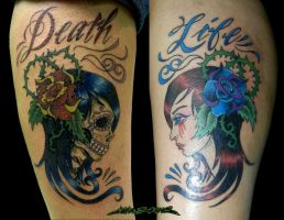 Life Death Tattoo by MuddyGreen