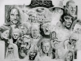 Lord of the Rings Character Drawing Collection by Sampl3dBeans
