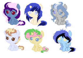 Adoptables baby ponies CLOSED by SugarMoonPonyArtist