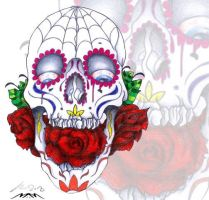 Skull and Roses by 2MarK4