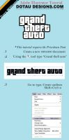Grand Theft Auto Logo Tut. by dotau