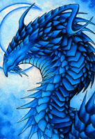 ACEO- Blue Moon by Sky-Shifter