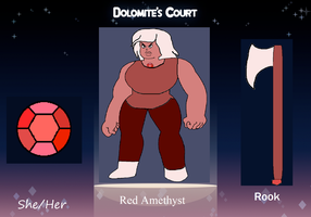Dolomite's Court app: Red Amythest by ProtanaArchives94