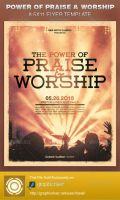 Power of Praise and Worship Church Flyer Template by loswl