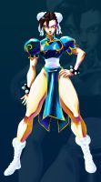chun li standing pose by TooFriendly