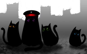 Four cats of apocalypse by Mabiruna