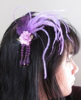 purple feather headpiece by yinco