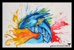 Watercolor Dragon by Fyrrea
