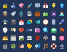 Free Flat Colored Icons by Designslots