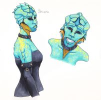 Female Drell by TwodeeWeaver