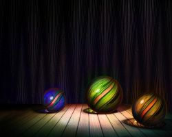 Marbles on the stage by rabbitica