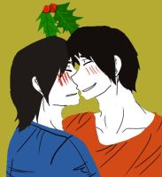 Merry Christmas Kiss Your Love Percy Nico by FMA-Al-Lover