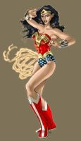 Wonder Woman : Battle Stance by DragonArcher