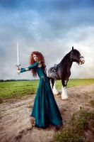 Brave - Merida and Angus_5 by GreatQueenLina