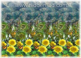 Stereogram poster closeup by 3Dimka