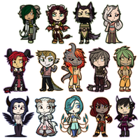 The Goetia -- Demon Chibis by TeniCola