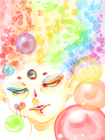 Rainbow Bubbles by EliciaElric