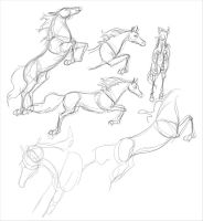 pony jump- sketches by Everland-Stables