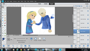 Progress4 - Elsa and Jack (When We First Met)WIP by peblezQ
