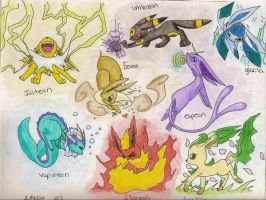 eevee evolutions? by 9Itachi-lover
