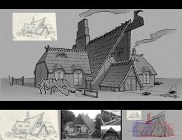 Viking house - lineart by Undercurrent-32