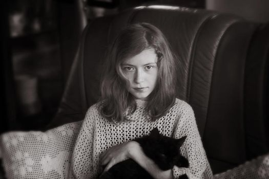 My sister and her cat by herecomesmaddie