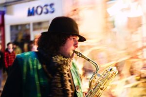 Saxophone player 2 - HFoL 2010 by philpem