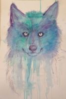 Ghost Wolf (Watercolor Practice) by Cascadena