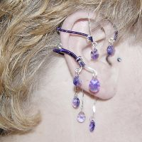 Unique Purple Ear Wrap- SOLD by YouniquelyChic