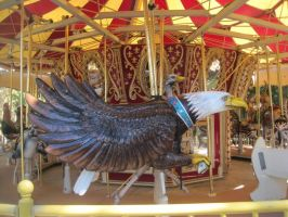Bald Eagle On The Carousel by Shortwinger