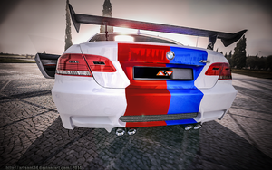 BMW M3 blue and red 2 by Artsoni3D