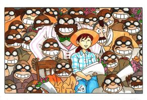 Ghibli - Everybody, smile by KeikoWolfgirl