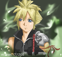 Cloud: a d v e n t. c h i l d by DarkGarnet