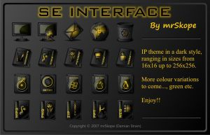SE Interface yellow by mrSkope