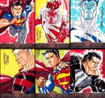 Superman The Legend sketchcards - part 3 by MarcFerreira