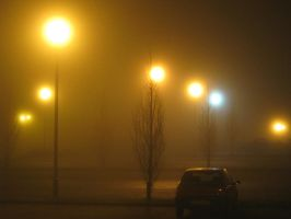 Parked in Fog by AlexIKaine