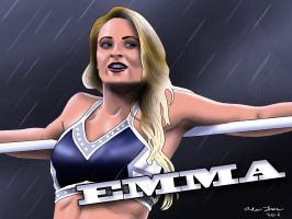 WWE Diva Emma Drawing by AllenThomasArtist