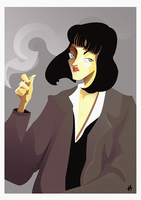 Mia Wallace - Pulp Fiction by GustavoJacome