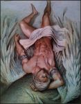 Master with angel wings,(Covered with tarps) by aenaluck