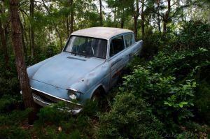 Flying Ford Anglia by MordsithCara