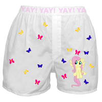 Fluttershy Boxers by elvenbladerogue