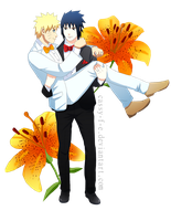 Commission - sasunaru by Cassy-F-E