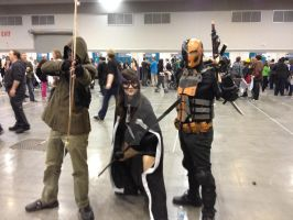 Arrow, Huntress, and Deathstroke (FanExpo Vancouve by GingerBaribuu