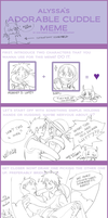OP:ADORABLE CUDDLE MEME by kirayukari